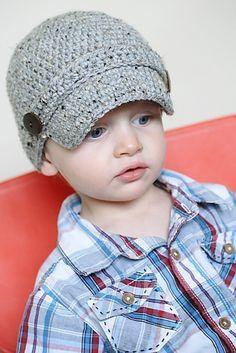 Classic Newsboy Crochet Hat Pattern Permission to by adrienneengar, $4.99