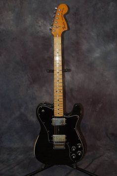 Today, Lawman Guitars is Presenting...A 1977 Vintage Fender Tele Deluxe Guitar with a Super Hot Fender Wide Range Humbucker Pickups and original Fender Hardshell Case...Give us a call. 515-864-6136