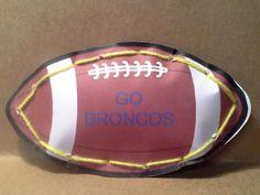 Day 27 - GO BRONCOS Superbowl Football Papercraft
