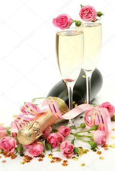 Alcoholic Drinks, Champagne, Happy Birthday, Rose, Tableware, 8 Martie, Beignets, Bouquets, Cancer