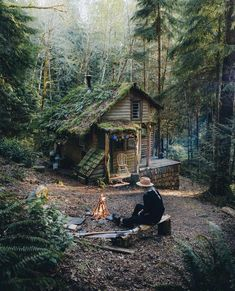 Dream house for my elder years!!! Oh wait, I already have the tiny cottage in the woods