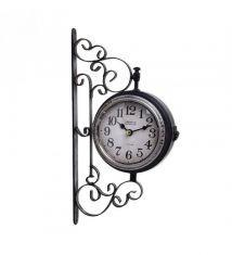 Ρολόι Τοίχου Μεταλλικό Σταθμού inart 3-20-098-0239