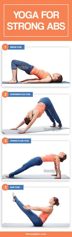 Yoga poses can be a one-time solution for this problem because it effectively burns the excess, therefore, leading to the growth of stronger Abs around the abdominal regions. Fitness Diet, Yoga Fitness, Fitness Motivation, Intermediate Yoga Poses, Dolphin Pose, Fish Pose, Yoga For Balance, Plank Pose, Bridge Pose