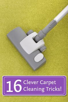 16 Clever Carpet Cleaning Tricks!