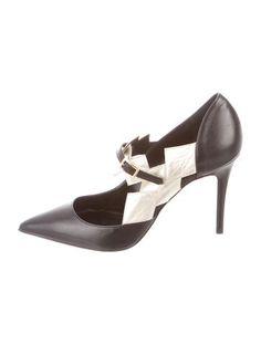 Abel Muñoz Metallic Leather Pointed-Toe Pumps w/ Tags