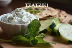 A cool refreshing cucumber mint dip that pairs well with almost anything. I love pairing this Mediterranean style Tzatziki Sauce with white fish, lamb, or grain-free falafel. This recipe is also s. Vegan Tzatziki, Tzatziki Recipes, Tzatziki Sauce, Allergy Free Recipes, Primal Recipes, Vegetarian Recipes, Naan Bread Vegan, Vanilla Chia Pudding, Grilled Lamb