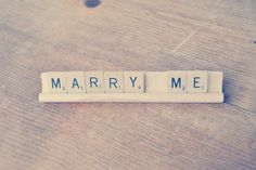 Marry Me // Engagement Proposal Sign // Scrabble by Perfectionate, $8.00