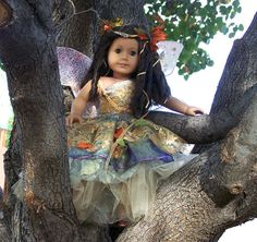 Fall Ballerina Fairy Costume for American Girl by DollhouseDesigns