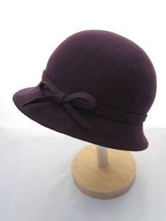 Purple Wool Felt Cloche Hat by Oliveandbettybespoke on Etsy