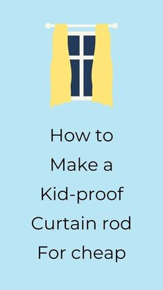 Check out this easy DIY indestructible curtain rod. Hang your curtains knowing that they are safe, perfect project if you are decorating your living room on a budget. #hometalk