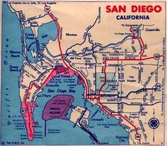 Vintage San Diego Map.10 Best Vintage Maps Images Vintage Cards Vintage Maps