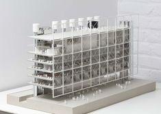 Frame, future media house of mediapark. Bruther Architecture, Architecture Portfolio, Ventilation Double Flux, Autocad, Art Conceptual, Arch Model, Architectural Section, Zaha Hadid Architects, House