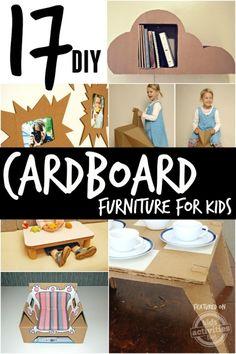 diy cardboard furniture for kids                                                                                                                                                                                 More