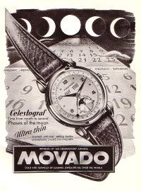 Vintage Watches Collection : 1951 Movado Watch Company Movado Celestograf Advert 1951 Swiss Ad Suisse Advert - Watches Topia - Watches: Best Lists, Trends & the Latest Styles Modern Watches, Vintage Watches, Luxury Watches, Cool Watches, Rolex Watches, Wrist Watches, Vintage Ads, Vintage Posters, Vintage Stuff