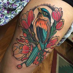Pretty Tattoos, Cute Tattoos, Beautiful Tattoos, Body Art Tattoos, Sleeve Tattoos, Foot Tattoos, Robin Bird Tattoos, Robin Tattoo, Passaro Curio