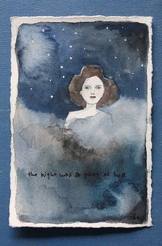 the night was a part of her by amanda blake art, via Flickr