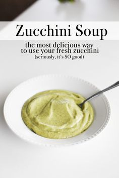 GREAT way to use up garden fresh zucchini Easy Salad Recipes, Brunch Recipes, Fall Recipes, Soup Recipes, Healthy Recipes, Dinner Recipes, Zucchini Soup, Zuchinni Recipes, Yummy Drinks