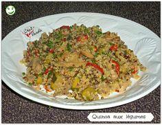 Pensez à varier vos féculents !!!! Recette improvisée avec les ingrédients sous la main PARFAIT POUR 1 JSC et en Simpl'Express Quinoa aux légumes  Pour 4 pers; 4PP la part Dans le cas d'une JSC ; 0PP la part Ingrédients ; **LOGOS VERTS 150 g de quinoa...