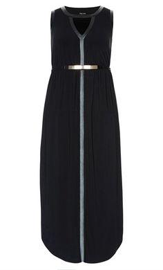 City Chic - COLOUR GRECIAN MAXI DRESS - Women's Plus Size Fashion - City Chic…