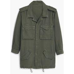 MANGO Military-Style Jacket (£39) ❤ liked on Polyvore featuring outerwear, jackets, flap jacket, lapel jacket, mango jackets, fashion military jacket and long sleeve jacket