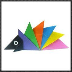 Cute Origami Hedgehog Paper Art for Kids