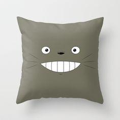 Totoro Throw Pillow by Robert Woods - $20.00