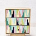 Recycled Timber.  Pastel drawers. #pastels #geometric