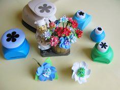 Цветы из фоамирана с помощью фигурных дыроколов для венка. Мастер класс ...