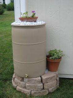 Make your rain-barrel look pretty