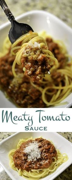 Delicious meaty tomato sauce with fresh basil and oregano. Slow simmered on the stovetop or in the slow cooker for a deep, rich flavor. Boil some pasta and dinner is served.