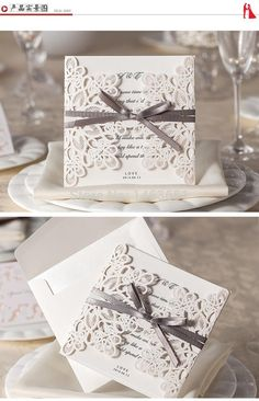 New 50pcs Happy Wedding Party laser invitation cards and Wedding invitation Wholesale Free Shipping-in Event & Party Supplies from Home & Garden on Aliexpress.com | Alibaba Group