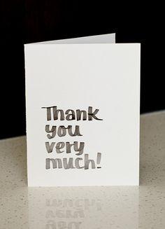 HONEY HAWK DESIGN honeyhawk.etsy.com Thank You Very Much- Greeting Card | Digital Download
