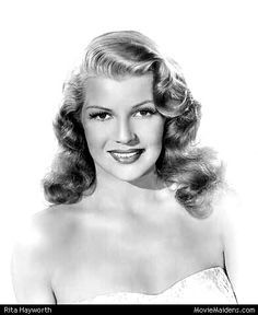 Rita Hayworth, a popular actress in the 1940's.