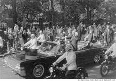 "Berlin, 1963 John F. Kennedy visits Berlin and gives his famous speech ""Ich bin ein Berliner"" ( I was there) (c) 2001 Heiko Burkhardt, dailysoft.com"