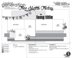 SG Exclusives - Downloads - Free Sketches - Scrapbook Generation