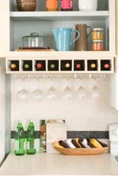 shelf with integrated wine rack - Google Search
