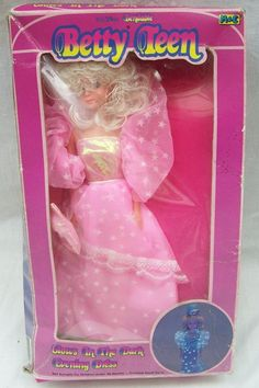 """Vintage Betty Teen 11 1/2"""" Fashion Doll - Pink Dress - Old Shop Stock 