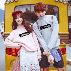 Kpop EXO Sweater Hoody Pullover Hoodie Sweatershirt Baek Hyun Sehun Chan Yeol #Allkpoper #LongSleeve