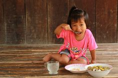 Samlor Pro Her is a Cambodian soup made from young pumpkin leaf, gourd, #pumpkin, and fish. It is the favorite cuisine for 3-year-old Vichara. Her mother is able to grow these kinds of #vegetables in their #backyard, and they help promote good nutrition for the family. This #soup is a common cuisine in #Cambodia. (Photo: 2015 Chetra Ten/World Vision)