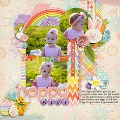 Digital Scrapbook Layout by Tabatha | Basket Case Kit | Bella Gypsy Designs.