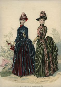 Here's my button fetish showing again. La Mode Illustree, 1886