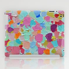 Amoebic Confetti ipad case by Ann Marie Coolick #ipadcase #ipad #cases #technology #artsytech #colorful