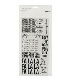 Kaisercraft Clear Stickers-Season's Greeting