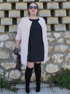 Lady Look. Look NEGRO & ROSA CUARZO. LOS LOOKS DE MI ARMARIO. #loslooksdemiarmario #winter #primark #violetabymango #outfitcurvy #invierno #look #lookcasual #lookschic #tallagrande #curvy #plussize #curve #fashion #blogger #madrid #bloggercurvy #personalshopper #curvygirl #LBD #lookinvierno #lady #chic #looklady #abrigorosa #black #rosacuarzo #lookconvestido #look #outfit #lookrosaynegro #overkneeboots #littleblackdress #navidades #christmas #cristmaslook #ymidedal