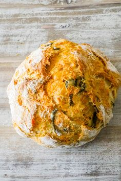 Easy Jalapeno Cheddar Bread is a simple recipe for artisan style bread at home with no kneading or fancy equipment. Cheddar Bread Recipe, Egg And Bread Recipes, Jalapeno Bread, Easy Keto Bread Recipe, Jalapeno Cheddar, Lowest Carb Bread Recipe, Easy Cake Recipes, Baking Recipes, No Egg Bread Recipe