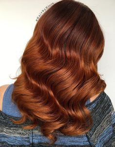 Long+Copper+Red+Balayage+Hair