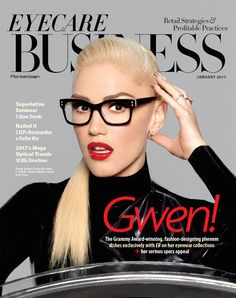 @gwenstefani is talking gx and David Lamb eyewear in this month's Eyecare Business Mag mag!    #WCW / gx by Gwen Stefani eyewear! Fashionable, chic, and stylish optical glasses. Always colorful and fun!