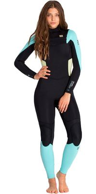 2016 Billabong Ladies Synergy 4 3mm Chest Zip Wetsuit ICE U44G03 Surf  Style 244d46499