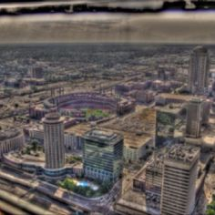 HDR view from the top of the Arch in St. Louis, MO.