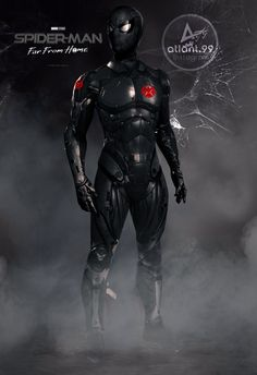 Spider-Man: Far From Home concept art Marvel Comic Universe, Marvel Comics Art, Marvel Heroes, Marvel Avengers, Spiderman Suits, Spiderman Costume, Spiderman Spider, Iron Man Wallpaper, Marvel Wallpaper